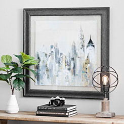 Golden Cityscape Framed Art Print