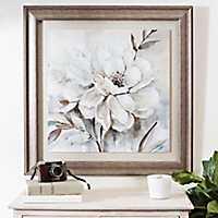 Neutral Bloom Framed Art Print