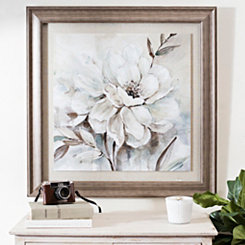 Neutral Bloom Framed Art Print