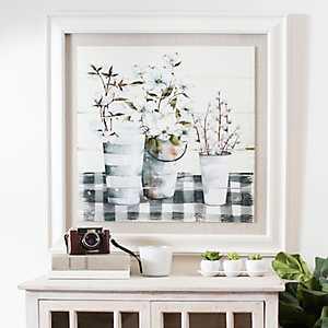 Spring Gingham Framed Art Print