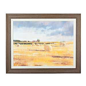 Swedish Hay Field Framed Art Print