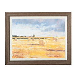 Swedish Hay Field Framed Art Print