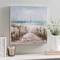 Coastal Scene Canvas Art Print