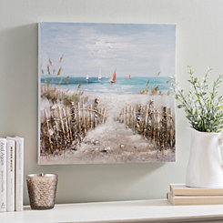 Coastal Scene Canvas Art Print