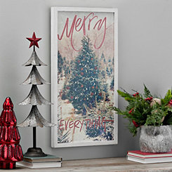 Merry Everything Framed Christmas Wall Plaque