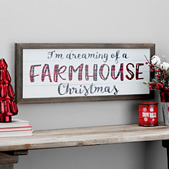 Farmhouse Christmas Framed Wall Plaque