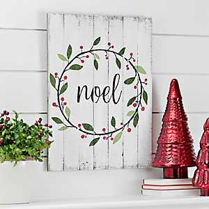Noel Wooden Wall Plaque