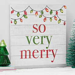 Pre-Lit So Very Merry Wall Plaque