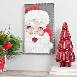 Vintage Jolly Santa Wall Plaque