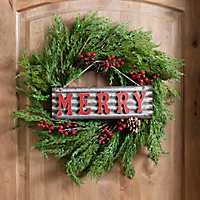 Merry Christmas Hanging Wall Plaque