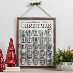 Merry Christmas Advent Buckets Wall Calendar