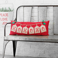 Ho Ho Ho Gift Tag Accent Pillow
