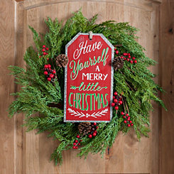 Merry Little Christmas Ornament Tag Wall Plaque