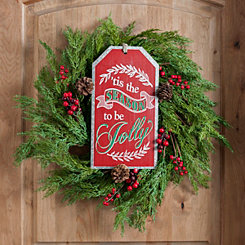 Tis The Season Christmas Ornament Tag Wall Plaque