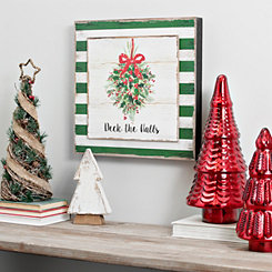 Deck The Halls Framed Wooden Plank Wall Plaque