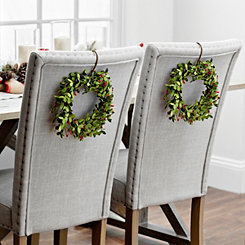 Red Mini Berry Wreaths, Set of 2
