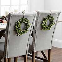 White Mini Berry Wreaths, Set of 2