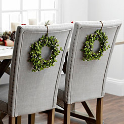 White Mini Berry Wreaths, Set of 2