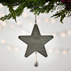 Gray Wooden Star Ornament