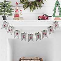 Galvanized Metal Christmas Banner