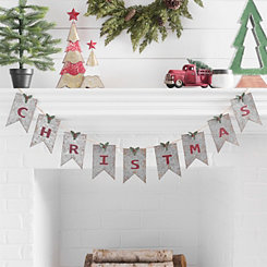 Galvanized Metal Christmas Banner