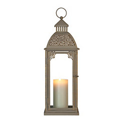 Gray Laura Metal Lantern