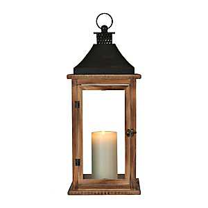 Brown Martin Wood and Metal Lantern