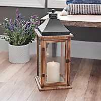 Brown Martin Wood and Metal Lantern