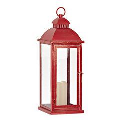 Red Metal LED Lantern