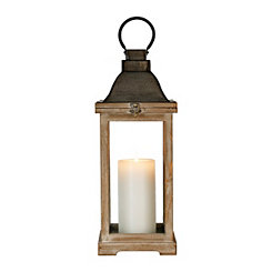 Westin Brown Wood Lantern