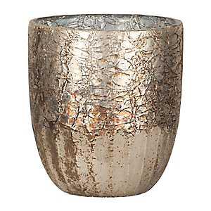 Reactive Metallic Glass Votive Holder