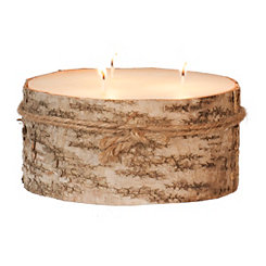 Large Birch Bark Pillar Candle, 3 in.