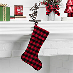 Red and Black Buffalo Check Stocking