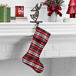 Red and Green Plaid Stocking