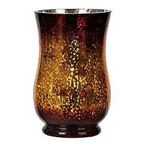 Chocolate Mercury Glass Pre-Lit Hurricane