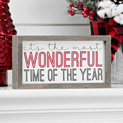 Wonderful Time Of The Year Barn Box Sign