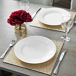 Glittering Gold Placemats, Set of 2