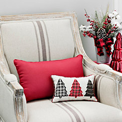 Plaid Christmas Trees Mini Accent Pillow