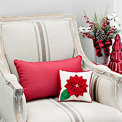 Poinsettia Mini Christmas Pillow