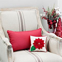 Poinsettia Mini Christmas Pillow