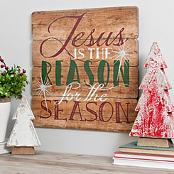 Reason For The Season Wooden Wall Plaque