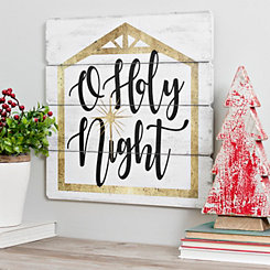 Holy Night Wooden Wall Plaque