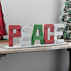 Wooden Peace Tabletop Art