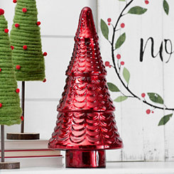 Red Mercury Glass Tree, 17 in.
