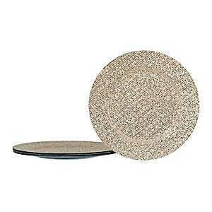 Glittering Gold Chargers, Set of 4