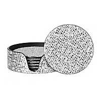 Glittering Silver Coasters, Set of 6