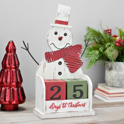 Wooden Snowman Countdown Blocks