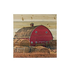 On The Farm Wood Art Print