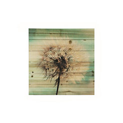 Dandelion Wishes Wood Art Print