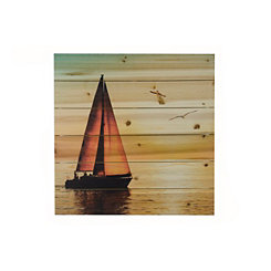 Sailing Away Wood Art Print
